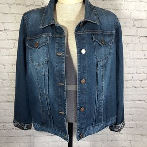 Chico's Jean Jacket Size 2 (large)
